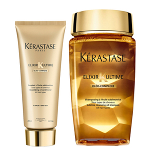 Kérastase Elixir Ultime Huile Lavante Bain 250 ml og Elixir Ultime Fondant Conditioner 200ml Duo