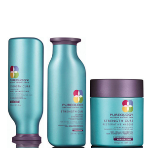 Pureology Strength Cure Shampoo, Conditioner (250 ml) and Mask (150 g)
