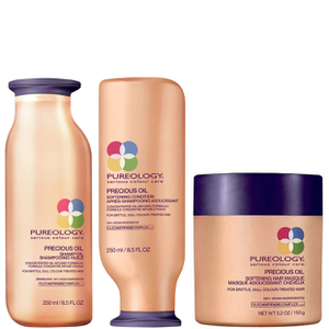 Pureology Precious Oil Shampoo, Conditioner (250ml) und enthärtende Maske (150g)