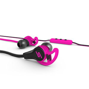 SMS Street Sport In Ear Wired Headphones with Mic & Remote - Pink: Image 3