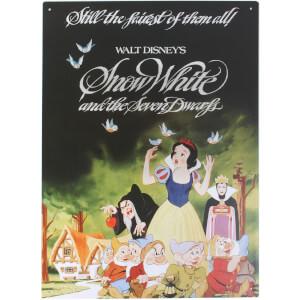 Cartel de chapa Disney Blancanieves y los Siete Enanitos
