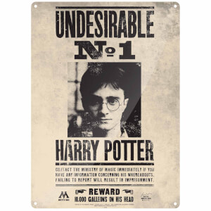 Harry Potter Undesirable No.1 Large Tin Sign