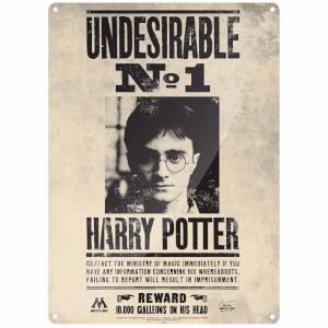 Grande Affiche en Métal Indésirable Numéro 1 Harry Potter