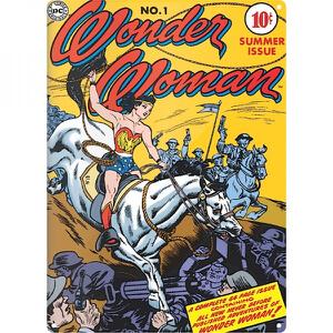Grande Affiche en Métal Wonder Woman Lasso DC Comics