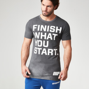 Myprotein herre Performance Slogan T-Shirt – Charcoal