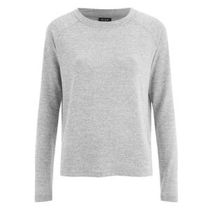 VILA Women's Central Long Sleeve Top - Light Grey Melange