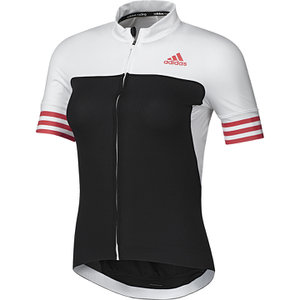 adidas Women's Adistar Short Sleeve Jersey - Black/Shock Red