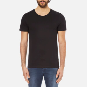 Selected Homme Men's Dave Pima Short Sleeve Cotton T-Shirt - Black
