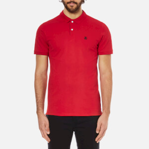 Selected Homme Men's Daro Short Sleeve Cotton Pique Polo Shirt - True Red