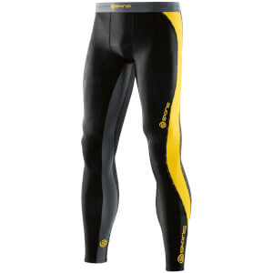 Skins DNAmic Men's Long Tights - Black/Citron