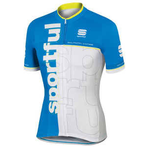 Sportful Squadra Short Sleeve Jersey - White/Blue