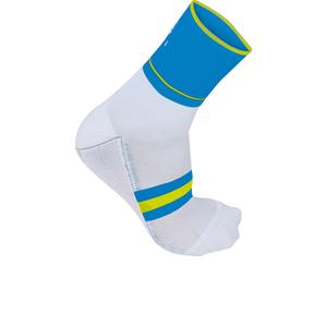 Sportful AC Vuelta 9 Socks - White/Blue/Yellow