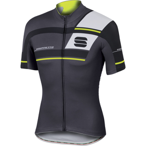 Sportful Gruppetto Pro Team Short Sleeve Jersey - Grey/Black/Yellow