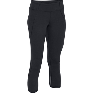 Under Armour Women's Mirror Colour Block Crop Leggings - Black