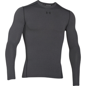 Under Armour Men's ColdGear Armour Compression Long Sleeve Crew Top - Dark Grey