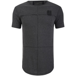 4Bidden Men's Longline Aim T-Shirt - Charcoal