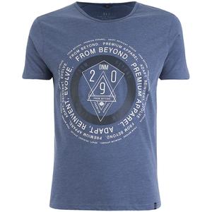 Smith & Jones Men's Arrowsli Print T-Shirt - Midnight Blue Marl