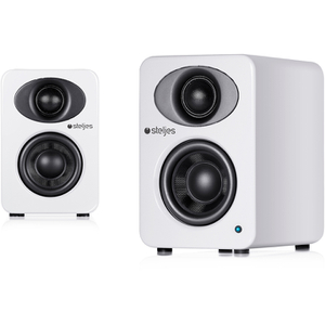 Steljes Audio NS1  Bluetooth Duo Speakers  - Frost White