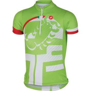 Castelli Children's Veleno Short Sleeve Jersey - Green