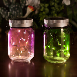 Solar Fairy Jars Set Of 2