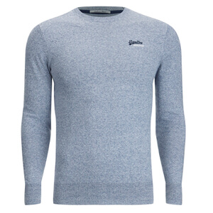 Superdry Men's Orange Label Crew Neck Jumper - Egret