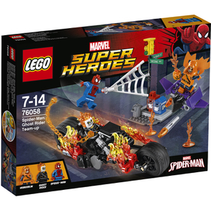 Lego Superhéroes Spider-Man: Alianza Con El Motorista Fantasma (76058)