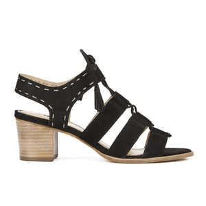 Dune Women's Ivanna Nubuck Strappy Heeled Sandals - Black