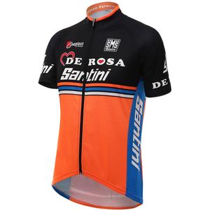 Santini De Rosa 16 Short Sleeve Jersey - Black