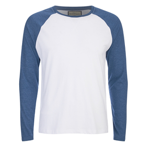 Brave Soul Men's Osbourne Raglan Long Sleeve Top - Optic White