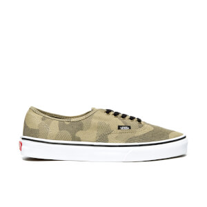 Vans Men's Authentic Camo Trainers - Raven/True White