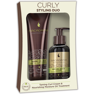 Macadamia Curly Styling Duo - Taming Curl Cream and Nourishing Oil