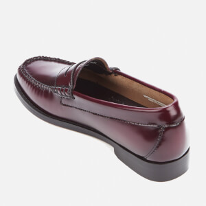 Bass Weejuns Women's Penny Leather Loafers - Wine: Image 4