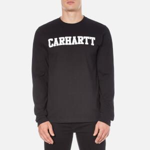 Carhartt Men's Long Sleeve College T-Shirt - Black/White