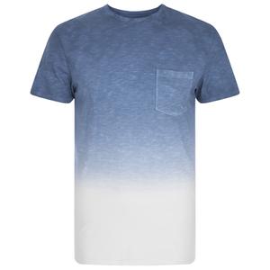 Threadbare Men's Dunbar Dip Dye T-Shirt - Blue