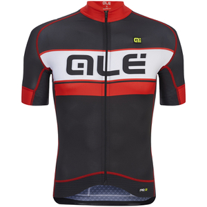 Alé PRR Bermuda Short Sleeve Jersey - Black/Red