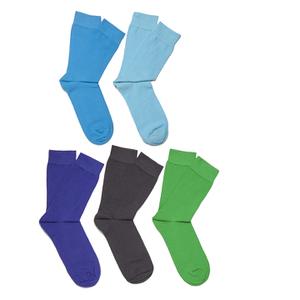 Bjorn Borg Men's 5 Pack Ankle Socks - Monaco Blue