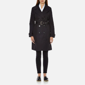 MICHAEL MICHAEL KORS Women's Fit and Flare Trench Coat - Black