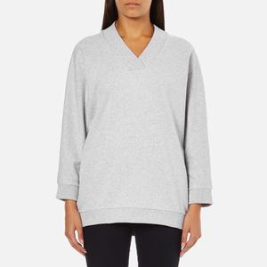 KENZO Women's Logo Short Sweatshirt - Light Grey