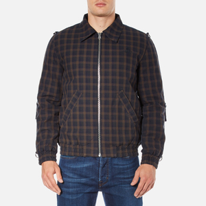 Vivienne Westwood Anglomania Men's Bondage Bomber Jacket - Dark Blue/Brown