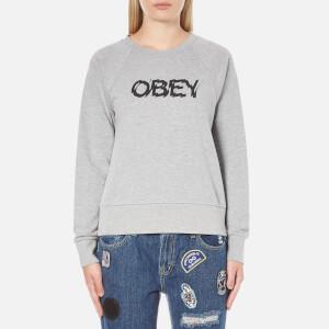 OBEY Clothing Women's Static Age Sweatshirt - Heather Grey