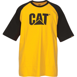 Caterpillar Men's Raglan Trademark T-Shirt - Yellow