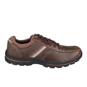 Skechers Men's Braver Alfano Casual Lace Up Shoes - Brown
