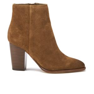 Sam Edelman Women's Blake Suede Heeled Ankle Boots - Woodland Brown