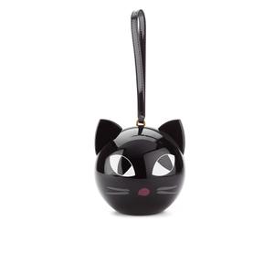 Lulu Guinness Women's Kooky Cat Perspex Orb Clutch - Black