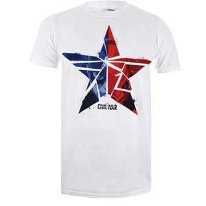 Marvel Captain America Civil War Broken Star Heren T-Shirt - Wit