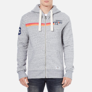 Superdry Men's Sun and Surf Barrel Zip Hoody - Light Grey Marl Heather