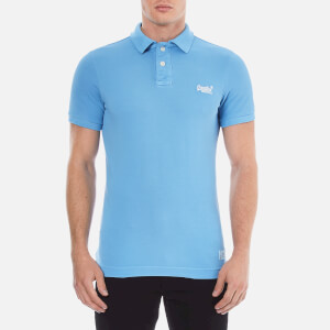 Superdry Men's Vintage Destroyed Polo Shirt - China Blue