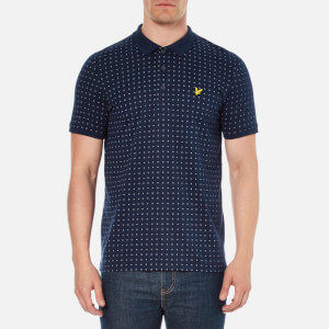 Lyle & Scott Vintage Men's Square Dot Polo Shirt - Navy
