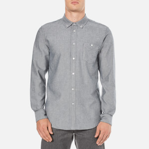 OBEY Clothing Men's Wiseman Herringbone Shirt - Navy Multi