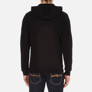 Barbour International Men's Small Logo Hoody - Black: Image 3